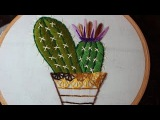 Hand Embroidery Designs  Cactus design  Stitch and Flower-122