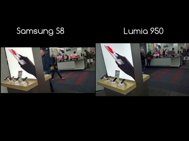 Samsung Galaxy S8 vs. Lumia 950 Camera Test