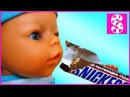 BAD BABY Born Doll Steals Chips and Candy Johny Johny Yes Papa Nursery Rhymes Songs