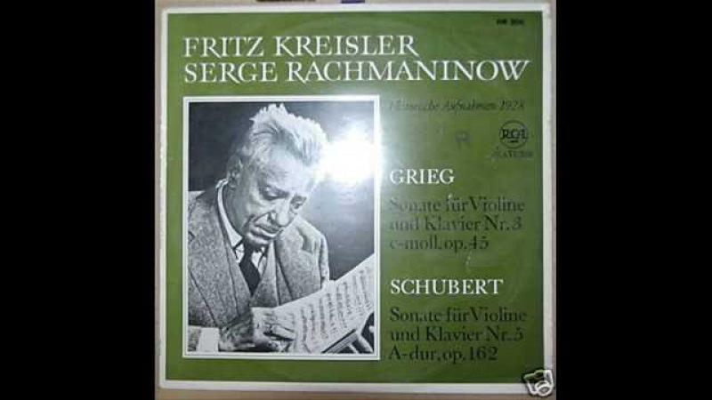 Kreisler and Rachmaninoff play Schubert's Grand Duo (3/3)