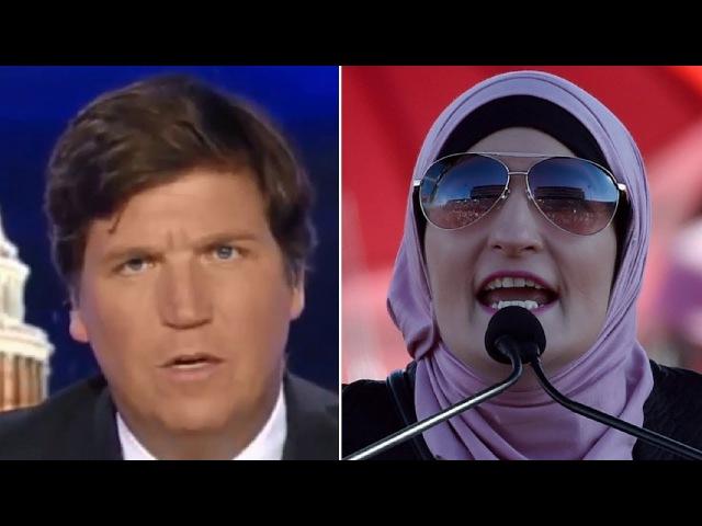 Linda Sarsour Tells Crowd She's TIRED of White Men, Tucker RESPONDS in Kind