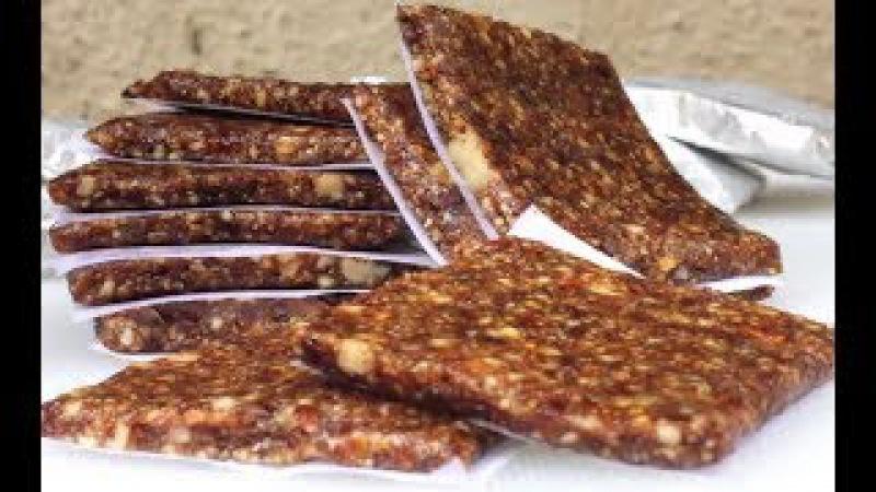 Khajur aur Dry Fruits ki Burfi   Dry Fruits and dates sweet