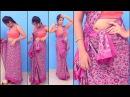 How to wear a Sari Wearing Chettinad Saree In Tamil Pinkosu Style Easy Method