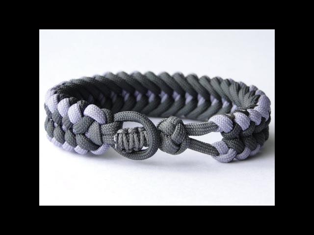How to Make a Knot and Loop Sanctified Paracord Bracelet-Bonus: Cobra Closure Knot