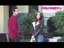 Lily Collins Is Briefly Spotted With A Mystery Man While Leaving The Palm In Beverly Hills 12.8.17