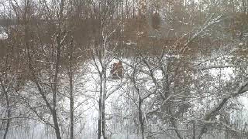 Новомосковск. Сокольники. Водокачка. Уборка снега