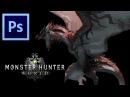 Rathalos - Monster Hunter World   Photoshop Painting