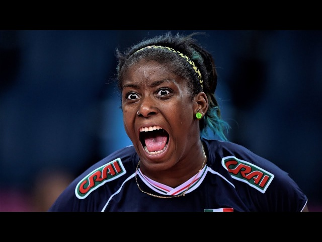 TOP 10 Powerful Volleyball Spikes by Miriam Sylla | VERY EMOTION PLAYER | WGP 2017