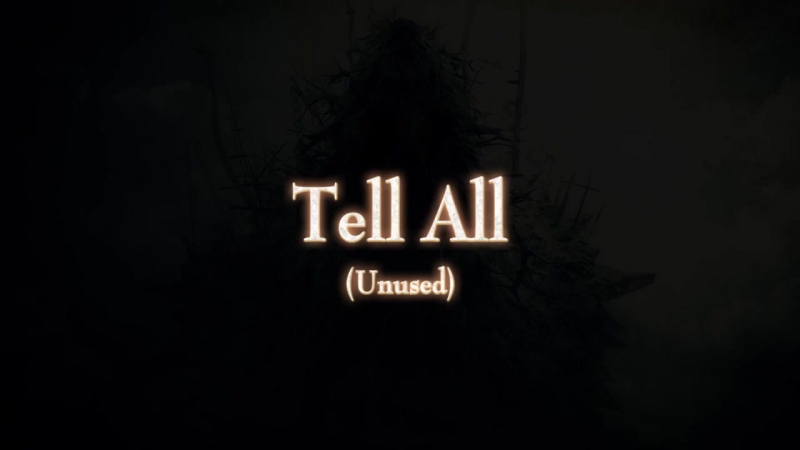 Demons Souls Dialogue - Tell All (Unused NPC)