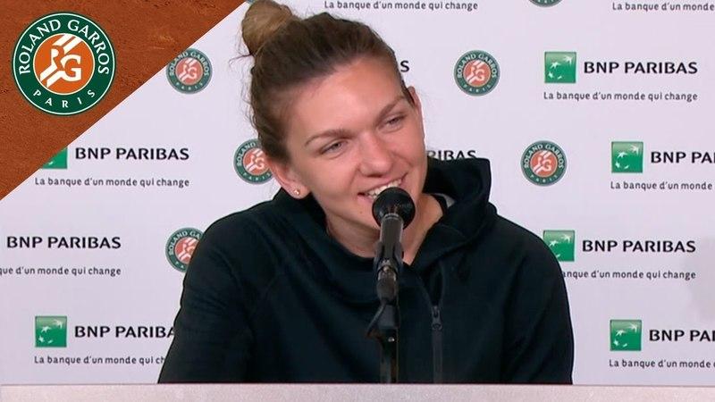 Simona Halep Press Conference after Round 2 I Roland Garros 2018