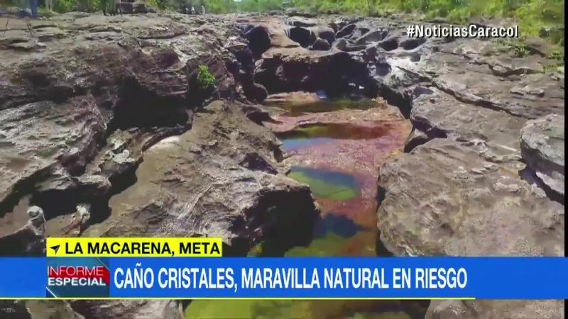 A punto de secarse Caño Cristales el río más bello del mundo