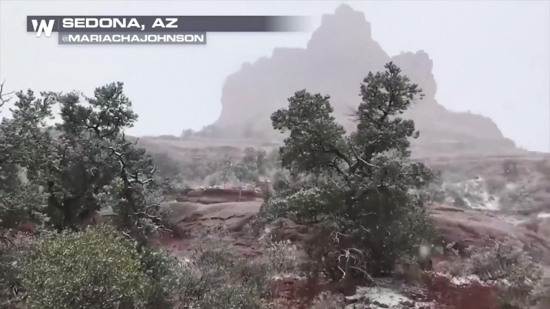 SNOW RETURNS to Sedona, Arizona! The flakes were flying yesterday - did you see them?
