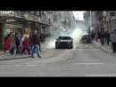 Chrysler 300c Insane Burnout and got busted by Police