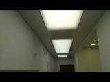 Натяжной потолок со вставками в прихожей Видео нашей работы