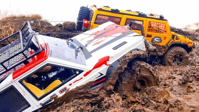 RC Trucks MUD OFF Road — Jeep Cherokee, Hummer H2, Toyota Land Cruiser Axial SCX10