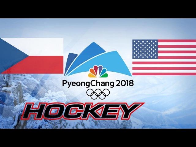 CZECH REPUBLIC vs USA, 1/4, Olympics Game 2018, Highlights Hockey...