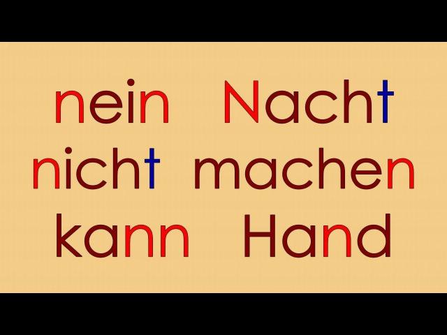 Deutsch Alphabet 4: K L M N