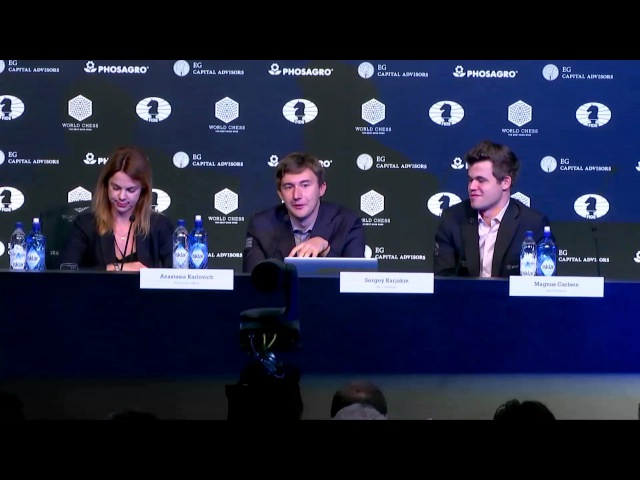 Sergey Karjakin and Magnus Carlsen on spending a rest day in New York