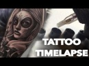 TATTOO TIMELAPSE DAY OF THE DEAD GIRL AND SKULL HALF SLEEVE CHRISSY LEE