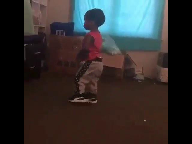 Child dances Mans not hot