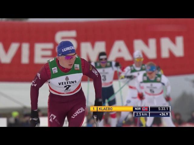 Лыжные гонки. Кубок Мира. 1 этап. Рука. Гонка преследования. 15 км(свободный стиль). Мужчины.
