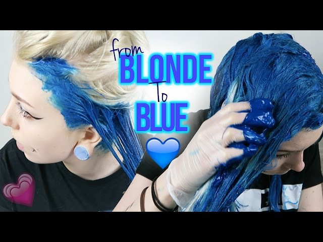 From White Blonde to Intense BLUE | Emo/Scene HAIR TRANSFORMATION