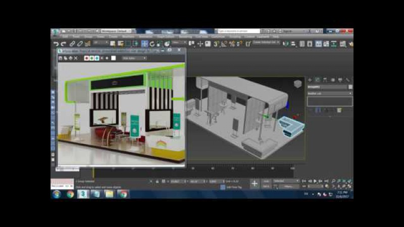 Tutorial on Modeling texturing and Lighting a stall in 3dsmax using Vray ( Part 3)