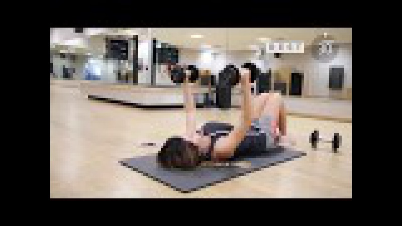 Workout for women - Chest and tricep workout to practice at home. Workout for women