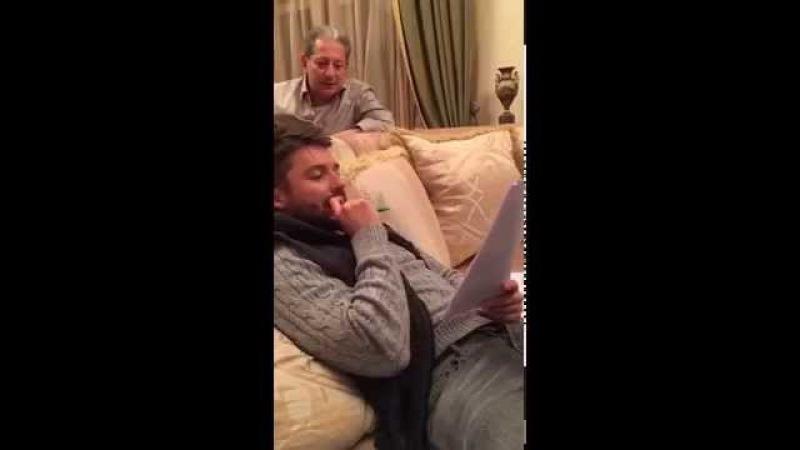 Лера Кудрявцева и Сергей Лазарев читают сценарий Песни Года. Перископ 2 декабря...