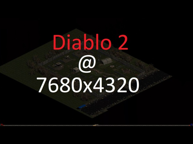 Diablo 2 @ 7680x4320 (8K) - First test Lets try leaping