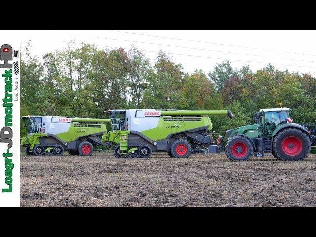 Soybean Harvest 2017 in AUSTRIA SLOVAKIA 2017 – Two FD140 on Lexion 770