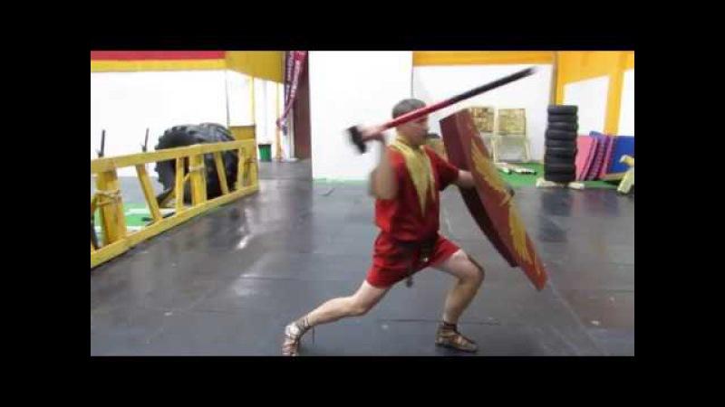 Roman pilum. Drill with a sledge hammer. LEG.IX.HISP. Упражнение с кувалдой.