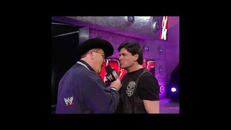 Eric Bischoff Jim Ross Segment Raw 04 07 2003