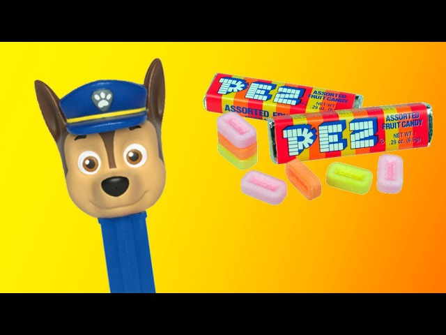 Paw Patrol Pez candy toy for kids unboxing PEZ candies for toddlers