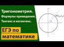 20 Тангенс и котангенс на тригонометрической окружности Формулы приведения