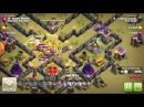 Clash of Clans TH9 Velks attack in war -using 2 golem strategy