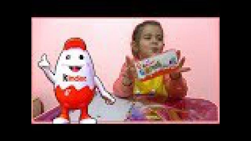 Kinder Surprise 3lü Kutu Sürpriz Yumurta Açtık İçinden İlginç Oyuncaklar Çıktı (