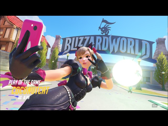 Black Cat D.Va Play of the game on Blizzard World map
