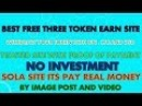 New Free 3 Site For Earn Token 1kcoin Berrycoin | SolaCoin Earn by post | pay token earn btc ltc