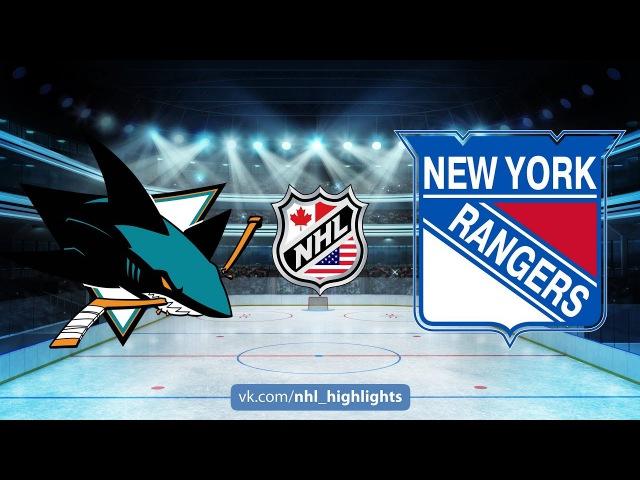 SHARKS VS RANGERS October 23, 2017 HIGHLIGHTS HD