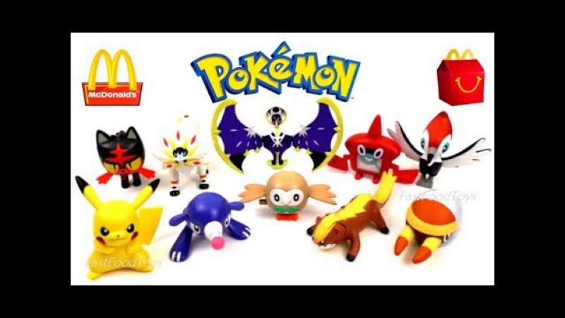 2017 FULL WORLD SET McDONALD'S POKEMON SUN MOON HAPPY MEAL TOYS 10 KID COLLECTION UNBOXING EUROPE US