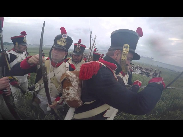 Action Cam Ligny Waterloo battles 200th anniversary - 8eme Regiment de Ligne - Part 2