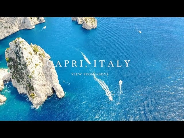 CAPRI ISLAND ITALY Drone dji mavic pro travel video PARADISE PICNIC PHOTOGRAPHY