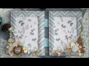 Tutorial rustic winter double photo frame textile by Ragozina Olga