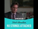 No strings attached - idiom