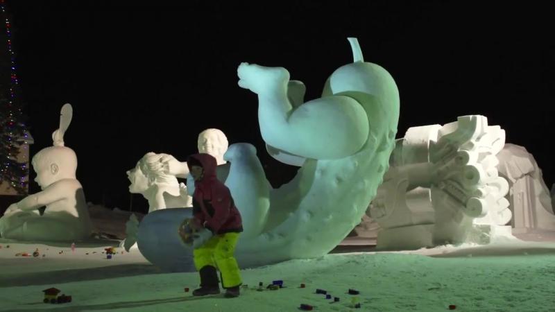 Фестиваль снежно-ледовых скульптур «СНЕГОЛЕД». Снежная Деревня