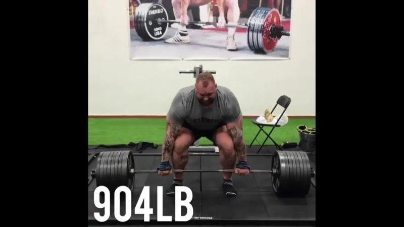 Хаффтор Бьорнссон - тяга 410 кг
