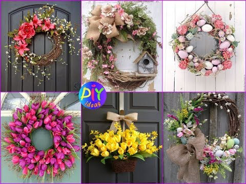 50 Spring Floral Wreaths Ideas for Front Door Decor