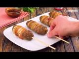 3 мясных блюда на палочке