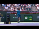 Hot Shot_ Monfils Strikes Backhand Pass In Indian Wells 2018